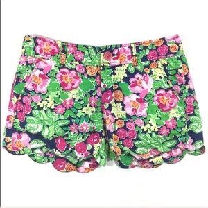 Lilly Pulitzer Floral scalloped Shorts